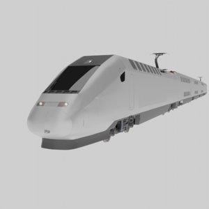3D tgv bullet trains