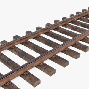 3D grooved tramway railway track