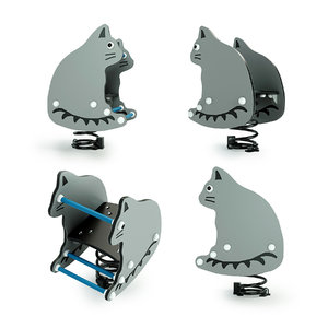 3D rocking cat playground equipment