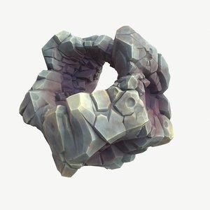 meteor meteorite asteroid 3D model