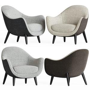 mad queen armchair poliform 3D