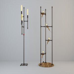 floor lamps 3D model