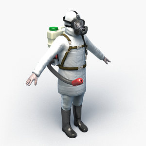 character disinfector man 0002 3D
