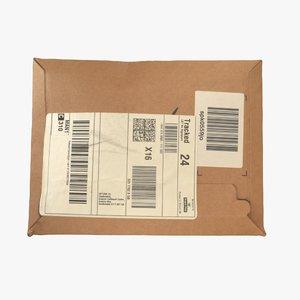 3D parcel letter package model