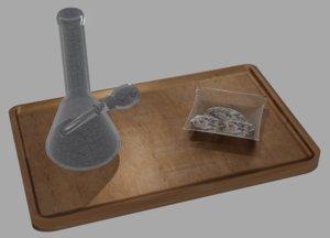 3D bong tray weed model