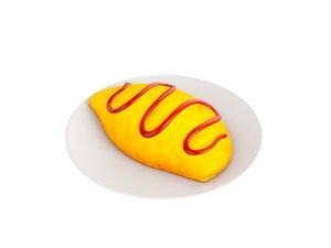 3D egg food model