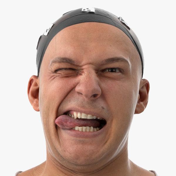 marcus human head funny 3D model
