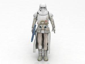 snowtrooper lego stormtrooper 3D model