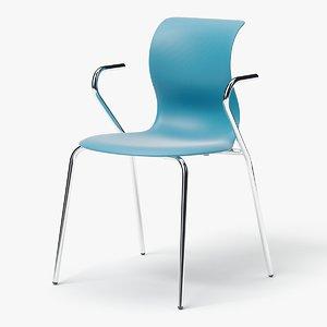 3D model modern stackable chair