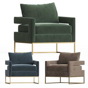 3D bevin accent chair onekingslane