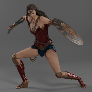 3D wonder woman body model