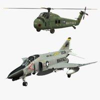 H-34 Chotaw and F-4 Phantom Marines Collection