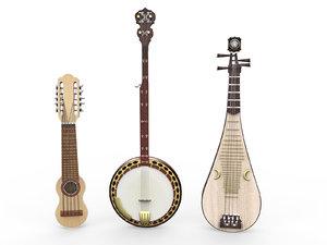3D musical instruments 3 model