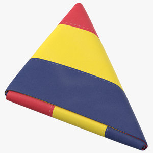 flag folded triangle chad 3D model