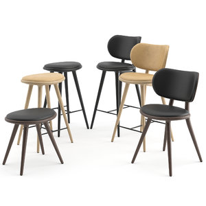 chairs stool 3D model