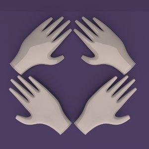 hand gloves 3D