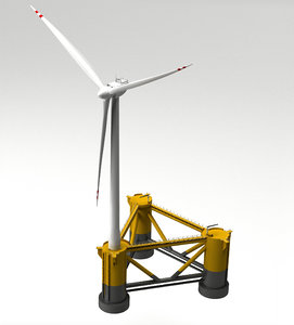 3D offshore wind turbine