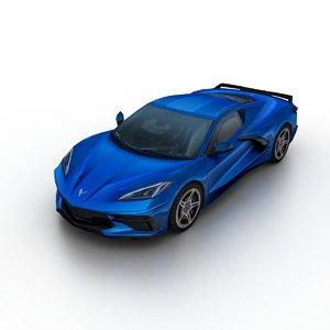 3D 2020 chevrolet corvette c8