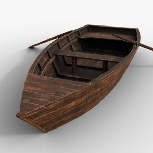old rowing boat 3D model