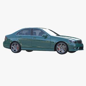3D passenger sedan model