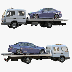 3D tow truck double cab