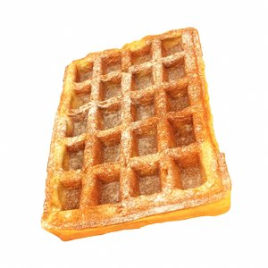 waffle snack food 3D model