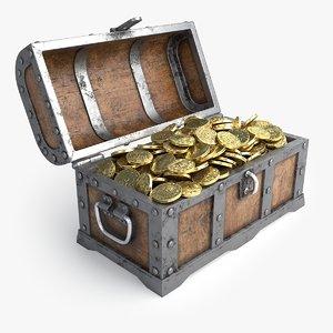 3D treasure realistic model