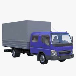 3D truck double cab tilt model