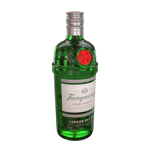 3D tanqueray 70cl bottle gin