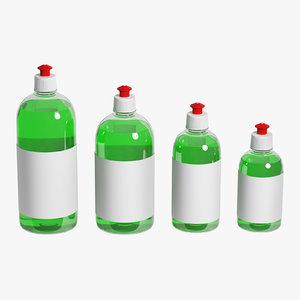 bottles set 3D model