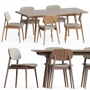 dining table dinning 3D