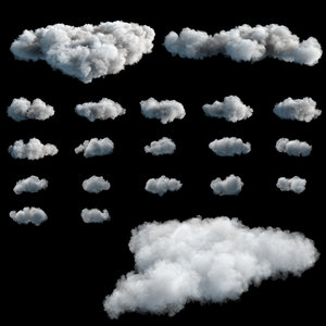 3D clouds vdb