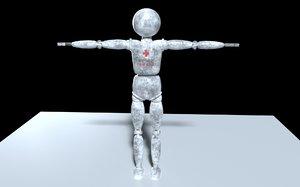 3D robot blender model