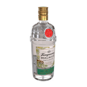 3D tanqueray malacca 70cl bottle model