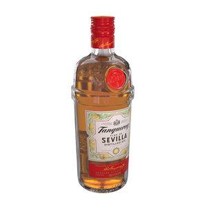 tanqueray sevilla 70cl bottle 3D