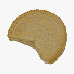 3D oreo cookie white 01