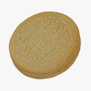 oreo cookie white 01 3D model