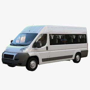 peugeot boxer passenger minibus 3D model