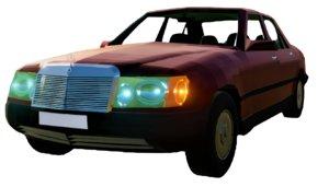 3D classic mercedes benz w124