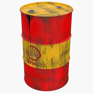 shell oil barrel 3D model