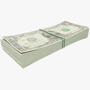 dollars bills 3D