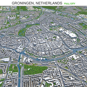 3D city area building model
