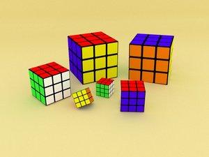 3x3 cube 3D model