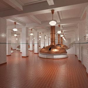 3D model beer factory