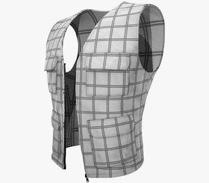 casual vest style 4 3D model