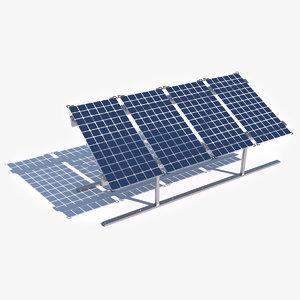 bifacial solar panels - 3D model