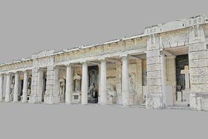 3D cemetery mausoleum