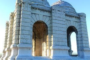 3D cemetery mausoleum model