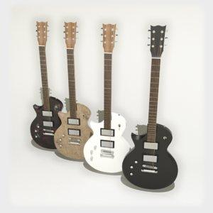 3D electric guitar les paul