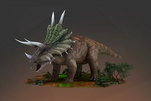slasher triceratops protozoa vr 3D model